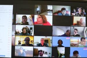 Die erste digitale Tagung zur Selbst-Vertretung bei der Lebenshilfe Bayern (Bild: LHB)