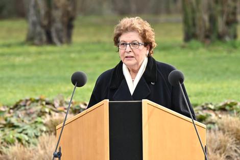 Barbara Stamm bei der Gedenkfeier in Würzburg (Bildarchiv Bayerischer Landtag, Foto: Rolf Poss)
