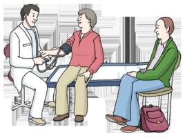 Assistenz und Begleitung im Krankenhaus (©Lebenshilfe Bremen, Illustrator Stefan Albers, Atelier Fleetinsel, 2013)