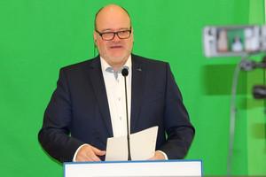 Dr. Jürgen Auer lud zur ersten virtuellen Tagung der Lebenshilfe Bayern (Foto: Anita Sajer)