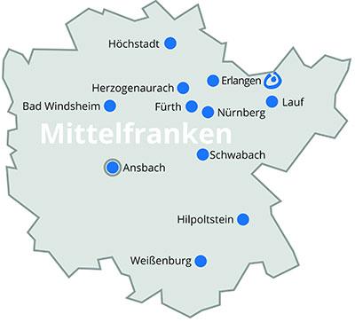 Mittelfranken Karte.Lebenshilfe Bayern Mittelfranken
